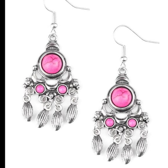 J60 Pink earrings